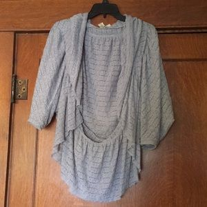 Grey Drapey eyelet cardigan Medium